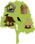 Feeder - bird house — Stock Vector