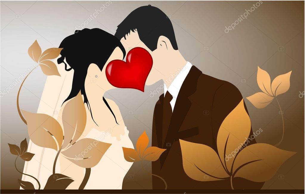 Young Couple - love illustration — Stock Vector #7714792