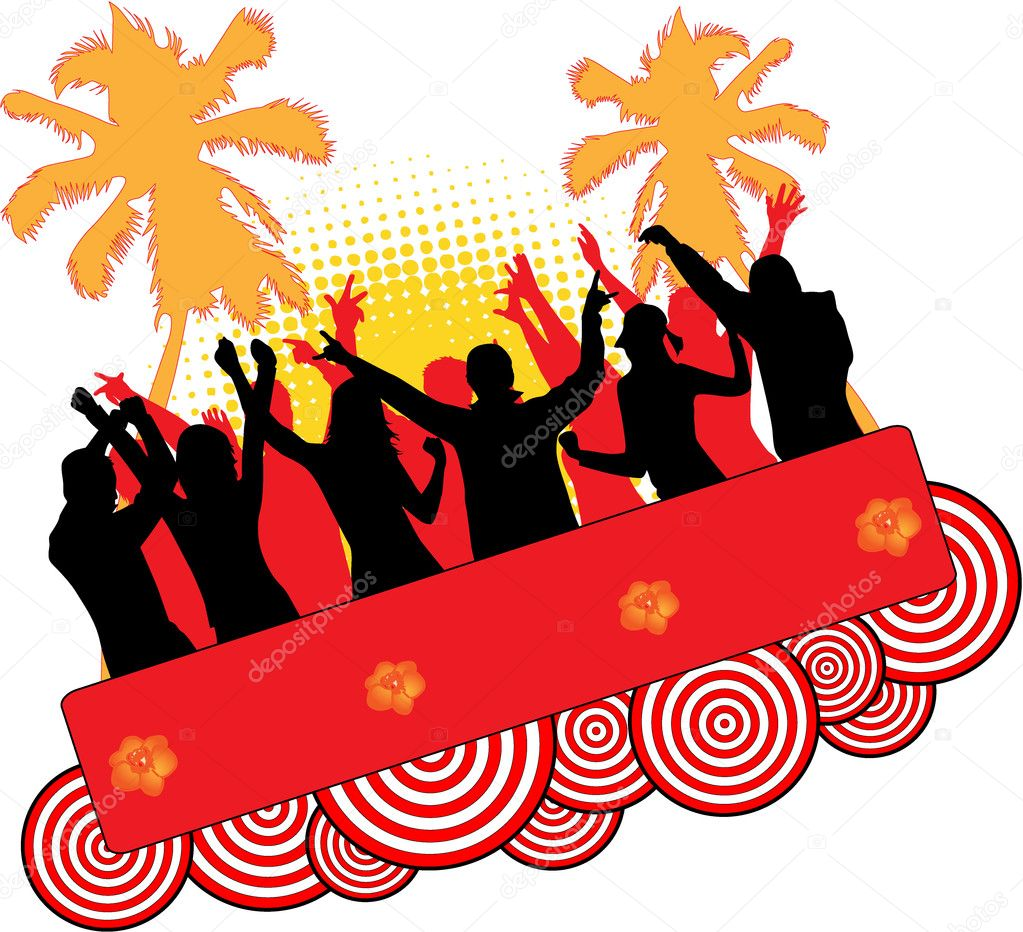 Event at the beach — Stock Vector #7715012
