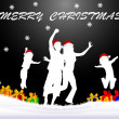 Christmas - black background — Stockfoto