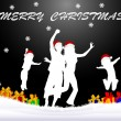 Stock Photo: Christmas - black background