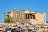 Caryatids in Erechtheum, Acropolis — Stock Photo
