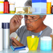 Middle aged man in front of medicine cabinet — Stock Photo #6759690