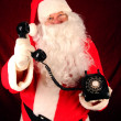 Santa Claus with Telephone — Stock Photo