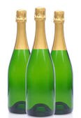 Group of Three Champagne Bottles — Stock Photo
