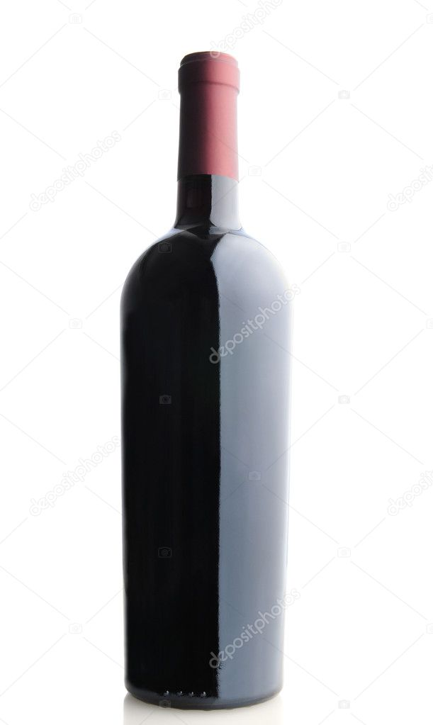 A Red Wine Bottle without label over a white background — Stock Photo #7397838