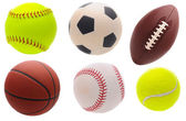 Assorted Sports Balls — Stock Photo