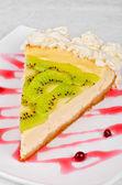 Kiwi cake — Stock Photo