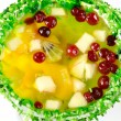 Fruit jelly dessert — Stock Photo