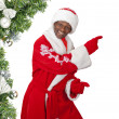 Black santa — Stock Photo
