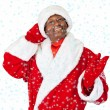 Black santa - Stock Photo