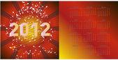 新しい 2012 年カレンダー — ストックベクタ