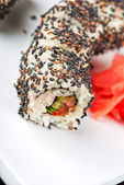 Sushi with sesame — Stock Photo