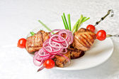 Grilled kebab meat — Stock Photo