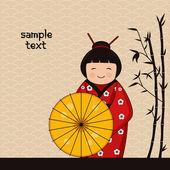 Japanese girl — Stock Vector