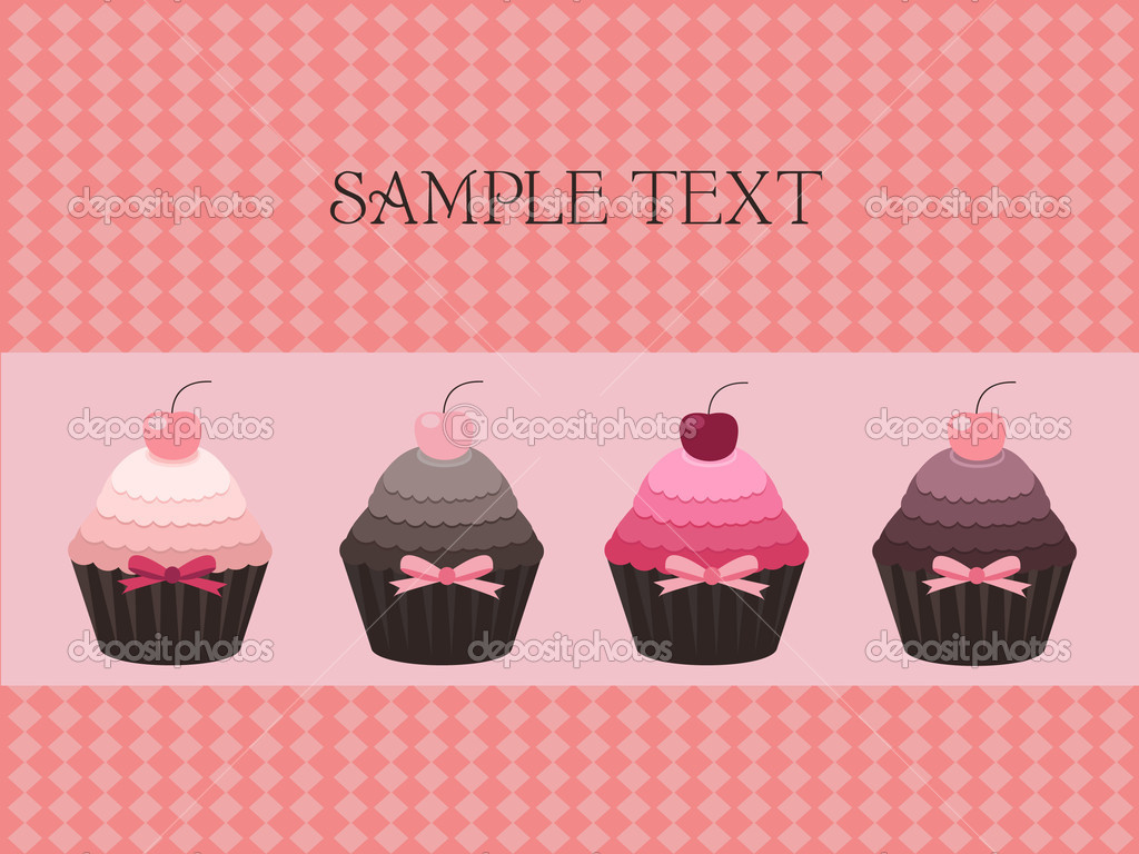 Vector illustration of cupcake design — Stock Vector #7317332