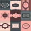 Vector set of vintage frames — Vector de stock  #7488234