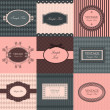 Vector set of vintage frames - Image vectorielle