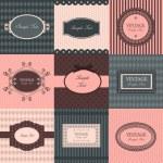 conjunto de vetores de quadros vintage — Vetorial Stock