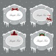 Winter and holiday labels — Stock Vector