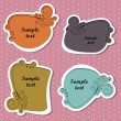 Cute decorative labels — Stock Vector