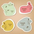 Cute labels — Stock Vector