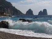 Faraglioni Rock formation on island Capri in Naples Bay area — Stock Photo