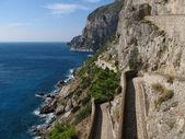 Uitzicht vanaf via krupp op eiland capri. — Stockfoto