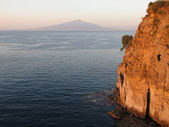 Gulf of Naples with Mount Vesuvius — Stock Photo