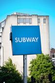 Metro teken — Stockfoto