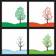 Seasons — Stock Vector