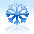 Shiny snowflake icon — Stock Vector