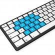 New year 2012 computer keyboard — Foto Stock