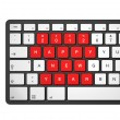 Royalty-Free Stock Photo: New year 2012 computer keyboard
