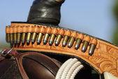 Gunbelt Close-up — Stock Photo