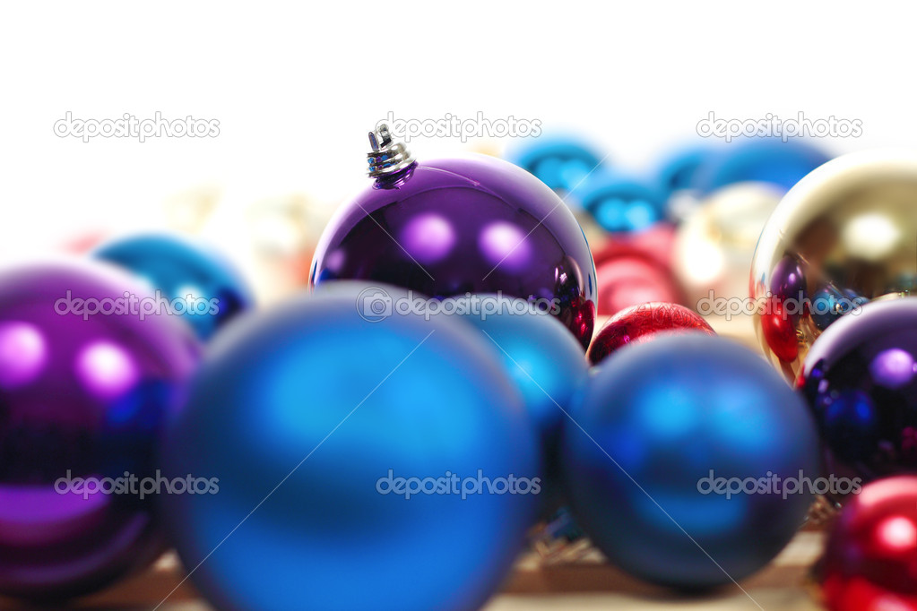 Colorful collection of Christmas Balls useful as a background pattern — Stock Photo #6915271