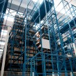 Automated warehouse with robots - Stock Photo