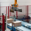 Stock Photo: Automated warehouse with robots