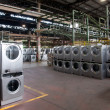 Factory: washing machine production — Stock Photo