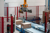 Automated warehouse with robots — Stock Photo