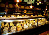 Typical Italian cheese shop — Stock Photo