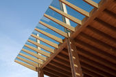 Glued laminated timber — Foto de Stock