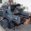 Old offset printing press - Stock Photo