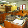 Stock Photo: Old typography - Print Shop