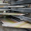 Web (rolls) offset press — Foto de Stock
