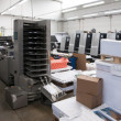 Print shop (press printing) - Finishing line — Stock Photo