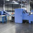 Print shop (press printing) - Finishing line — Stock Photo