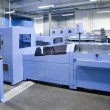 Print shop (press printing) - Finishing line - Zdjęcie stockowe