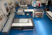 Flatbed cutter router (cutting plotter) — Foto de Stock