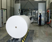 Printing Plant: Web (rolls) offset press — Stock Photo